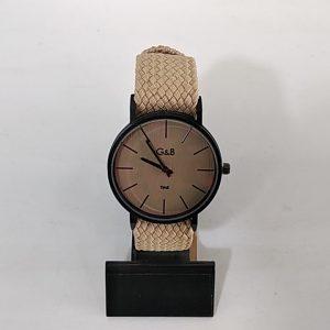 Reloj G&B correa tela trenzada reloj. XaQueXulo