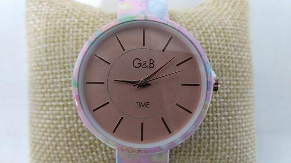 Reloj_G&B_brazalete_metalico_rosa_esfera_XaQueXulo