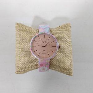 Reloj G&B brazalete metálico rosa correa. XaQueXulo